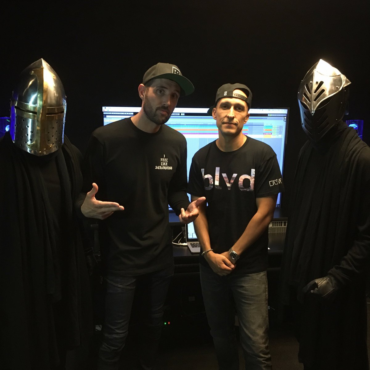 Finished up recording the latest episode of Behind The File with @djvice and the @Horsemendjs -- Coming soon to DMS! https://t.co/1imUCdZRcu