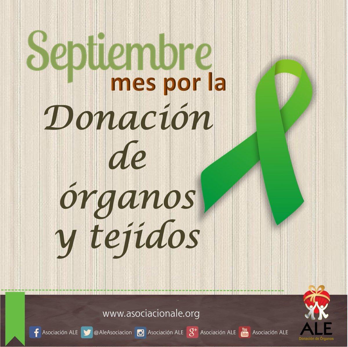 Di Sí a la vida... Septiembre mes por la donación de órganos https://t.co/a9VS1aC3wD