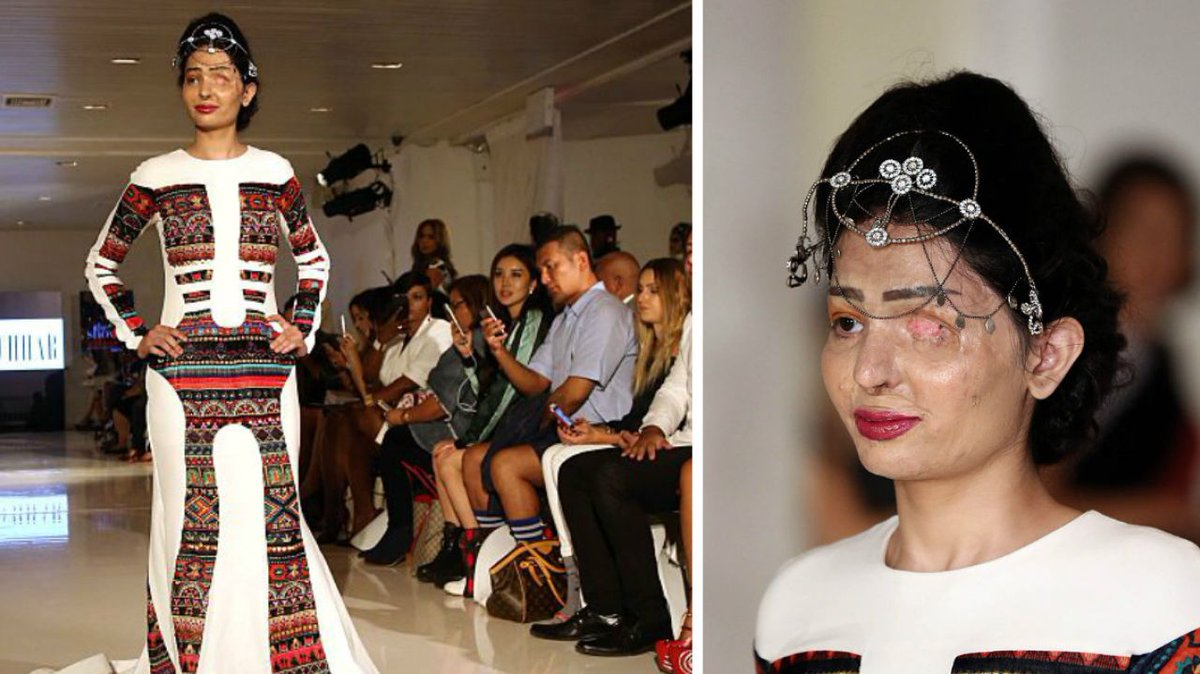 Acid attack survivor Reshma Qureshi walked the #NYFW runway for Archana Kochhar https://t.co/6DlQepm8Ln https://t.co/WJ9SEStpgW
