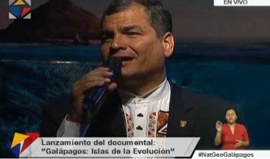 'Ecuador es el país de los cuatro mundos' @MashiRafael #NatGeoGalápagos