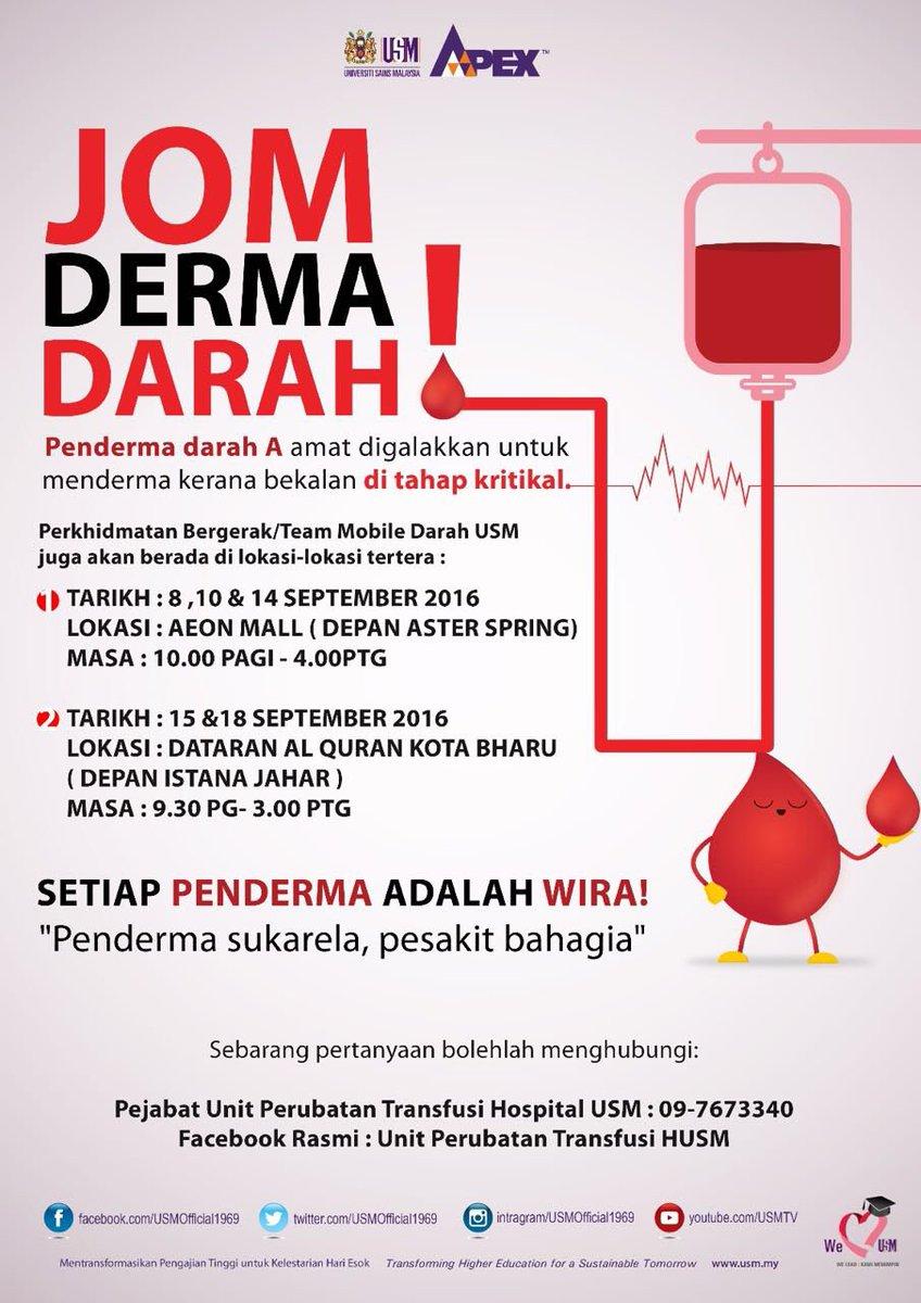 usm official on twitter jom derma darah