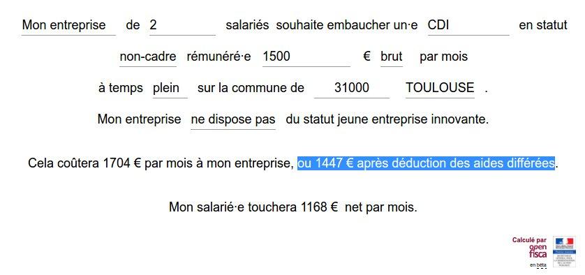 coût réel d'un emploi via les données du FISC