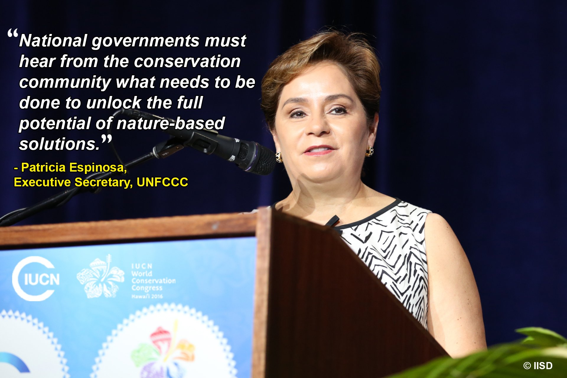 A call for action on nature-based solutions at #IUCNcongress. @PEspinosaC @UNFCCC #climatechange https://t.co/xSMHcboEgR