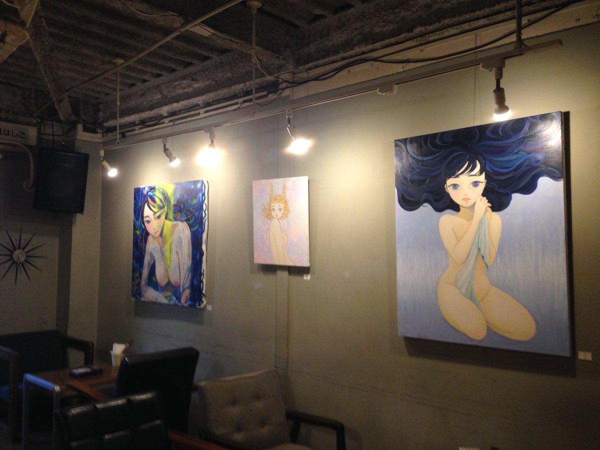 【個展開催中】cafeDODOにて林万里江 個展「The Light Comes From Within」を開催しています!のこり3日間となりました。最終日夜、搬出まで在廊します!https://t.co/MkT30dCiAQ https://t.co/p9VMxX7piR