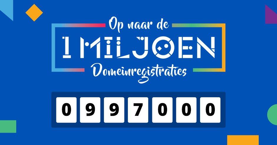 Congratz @ Jeroen Mulders met de 997.000e domeinnaam! Ook een TransIP goodiebag winnen? Retweet en maak kans! https://t.co/etjIvuG3el