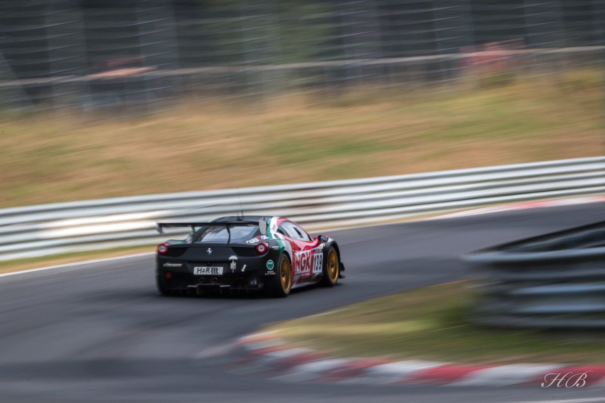 ferrarifriday with the ferrari 458 flying around hohe acht at vln7 last weekend