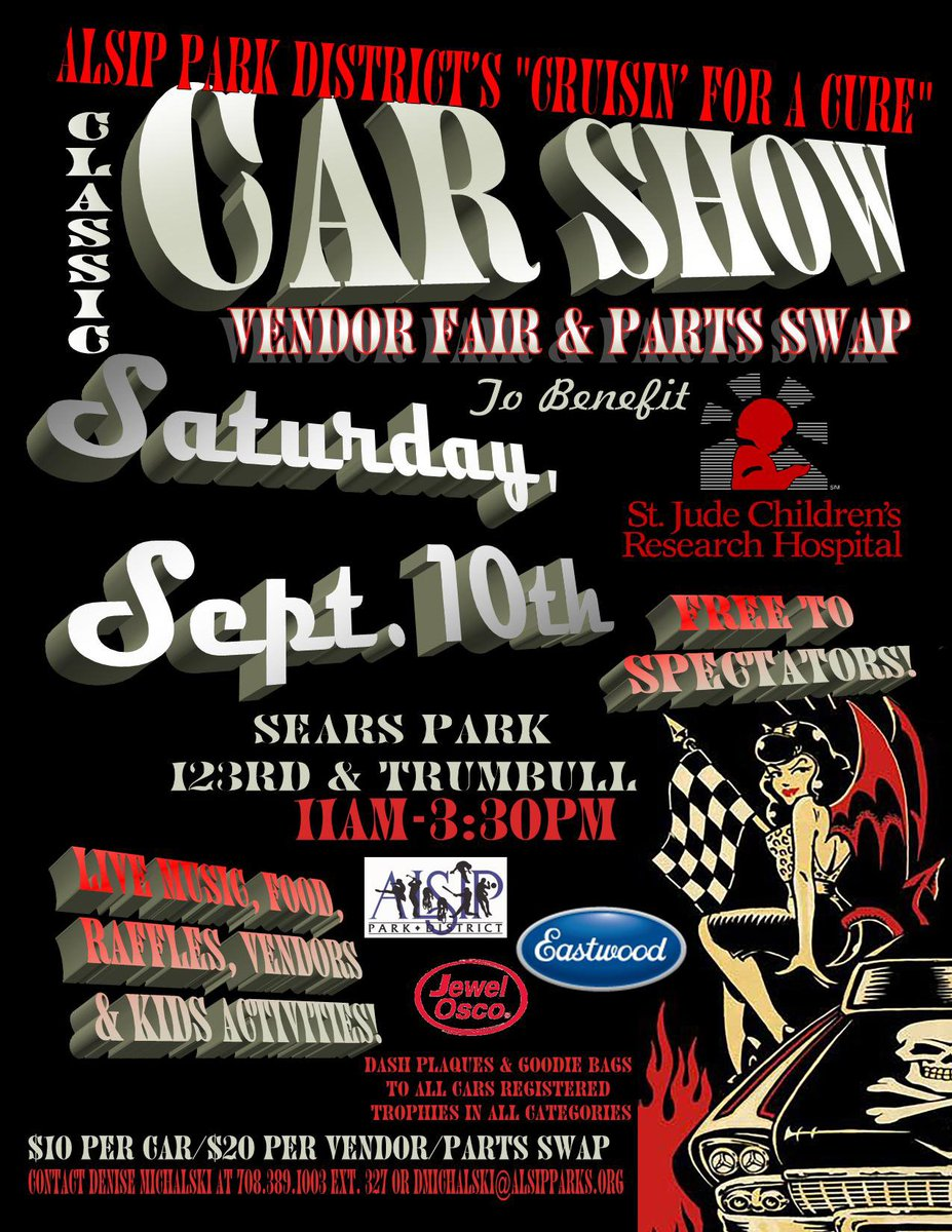 Alsip Park District On Twitter Cruisin For A Cure Car Show - Car show trophy categories