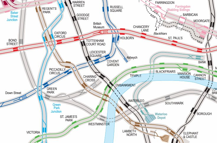 Official TfL map showing all tube tracks, platforms, crossovers, depots & ghost stns https://t.co/fN3cZRUs2R (17MB) https://t.co/x8QlTipBHW