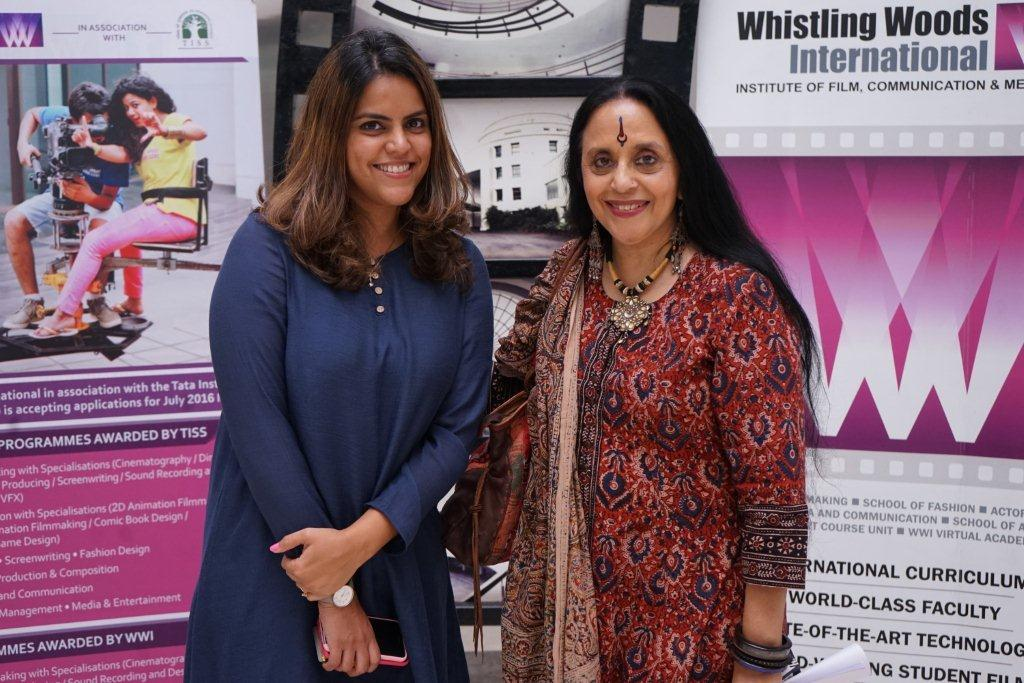 Whistling Woods International On Twitter Folk Singer Actor And Composer Ila Arun Addresd The Wwistudents At During The 5thveda Session
