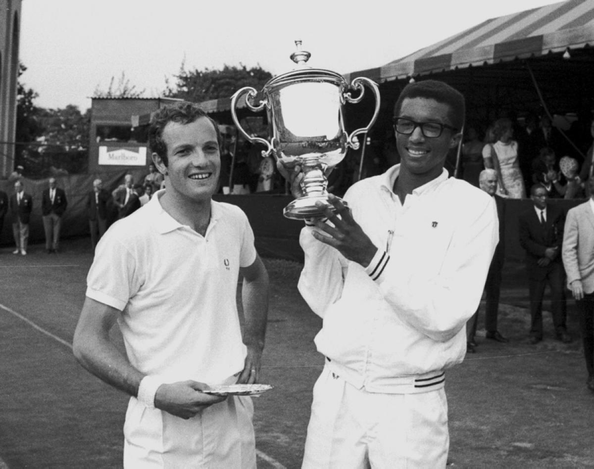 "48 years ago today, Arthur Ashe won the first U.S. ""Open"" defeating Tom Okker in the final at Forest Hills #USOpen https://t.co/CDyCLXaeFp"