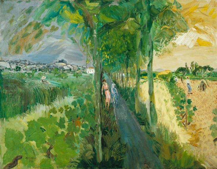 #TateWeather predicts a rainy Saturday & a sunny Sunday.  Anthony Gross's 'La Route de Ste Livrade' captures both!