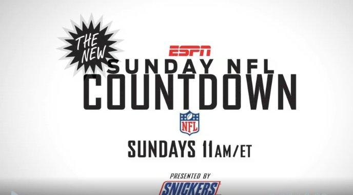 Sunday: New season  New look  New crew  The NEW Sunday NFL Countdown