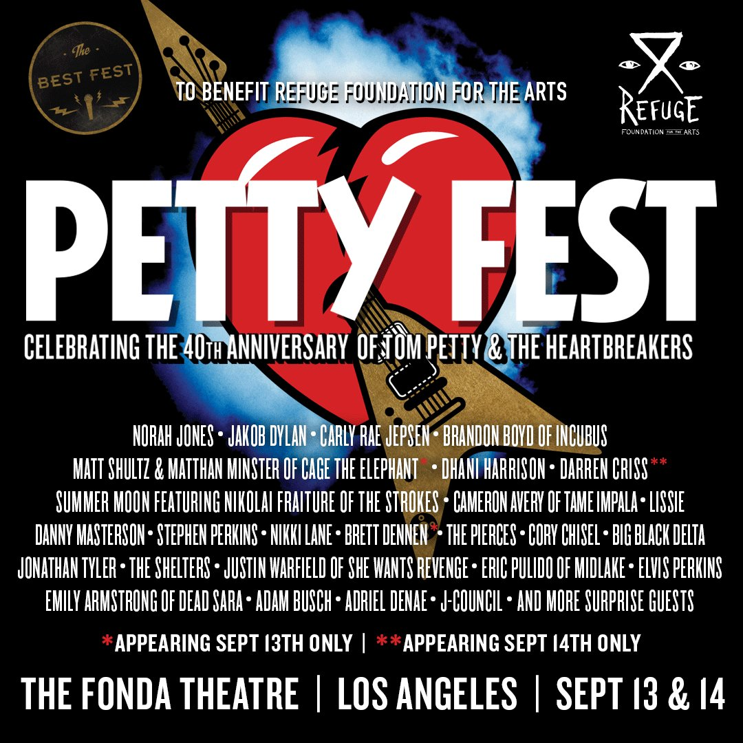 WIN TICKETS to @the_bestfest PettyFest 9/14 @NorahJones mems @tameimpala & @thestrokes more! https://t.co/cWBS5C1B5p https://t.co/gG27f4nuuA