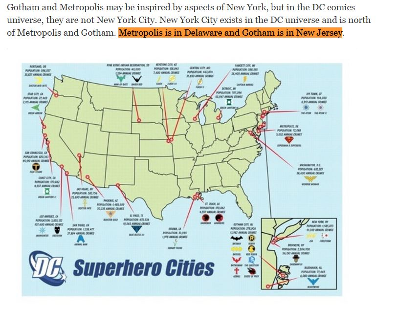 metropolis is located in delaware the daily planets