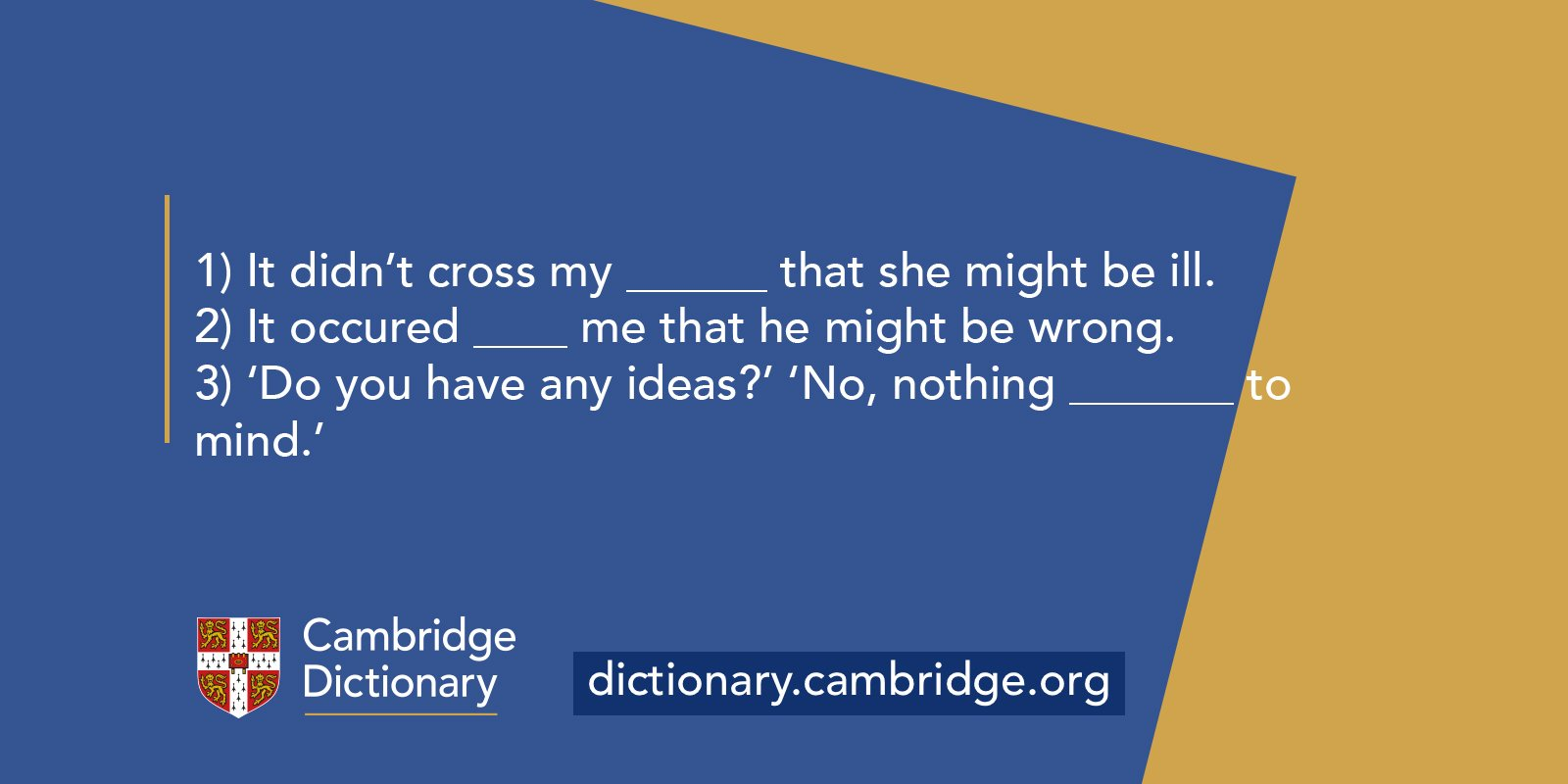 Cambridge Dictionary auf Twitter