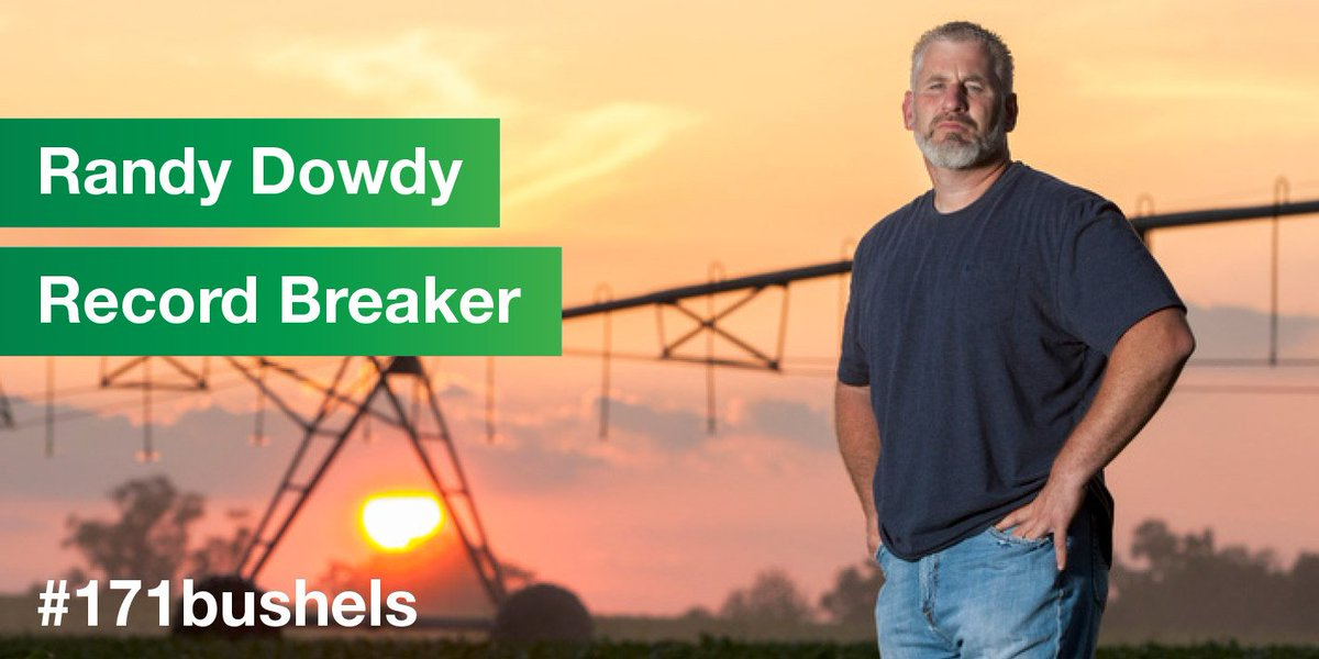 BASF salutes Randy Dowdy for new world soybean yield record: #171bushels #GrowSmart https://t.co/yHAjjPme75