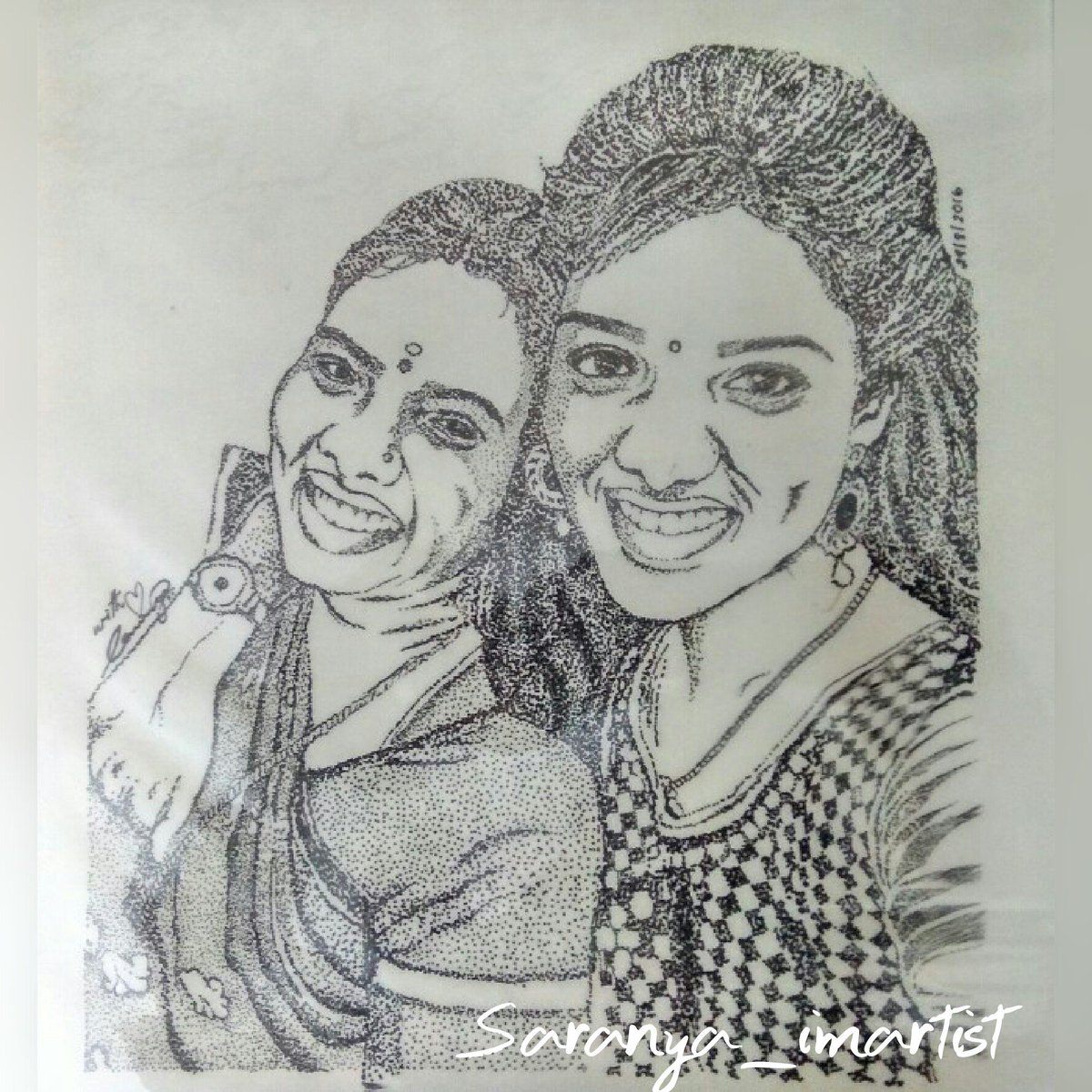 Saranya Imartist On Twitter Love U Amma Dotart Sketch Drawing Saranya Imartist Saranya Artist Artwork Sketching Art