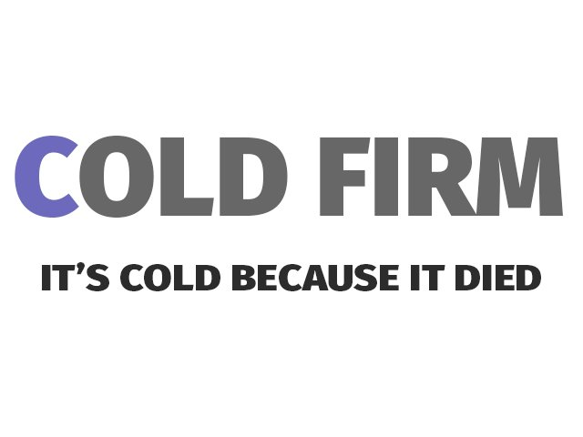 #ColdFirm https://t.co/iv15Eam5Oc