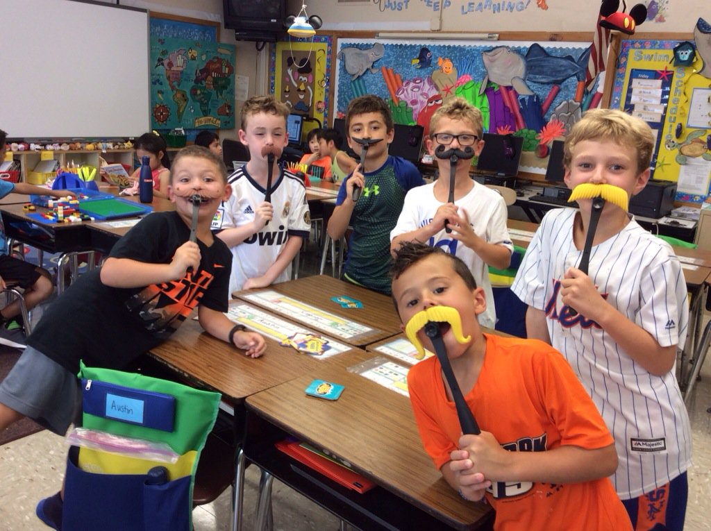 Mustache Smash!  We need a shave in #class2h! #funfriday @Ivysherman #seamanstrength https://t.co/UlSsr6YYfr