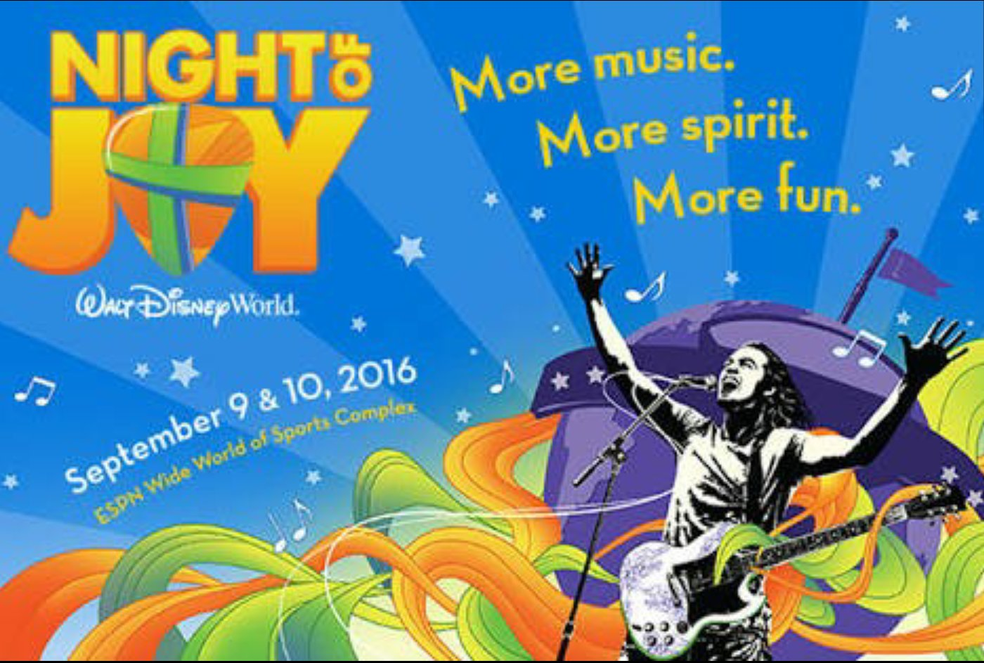 Check out Night of Joy at Walt Disney World - two nights of the best in Contemporary Christian music  #ad https://t.co/U85AhxYN4N
