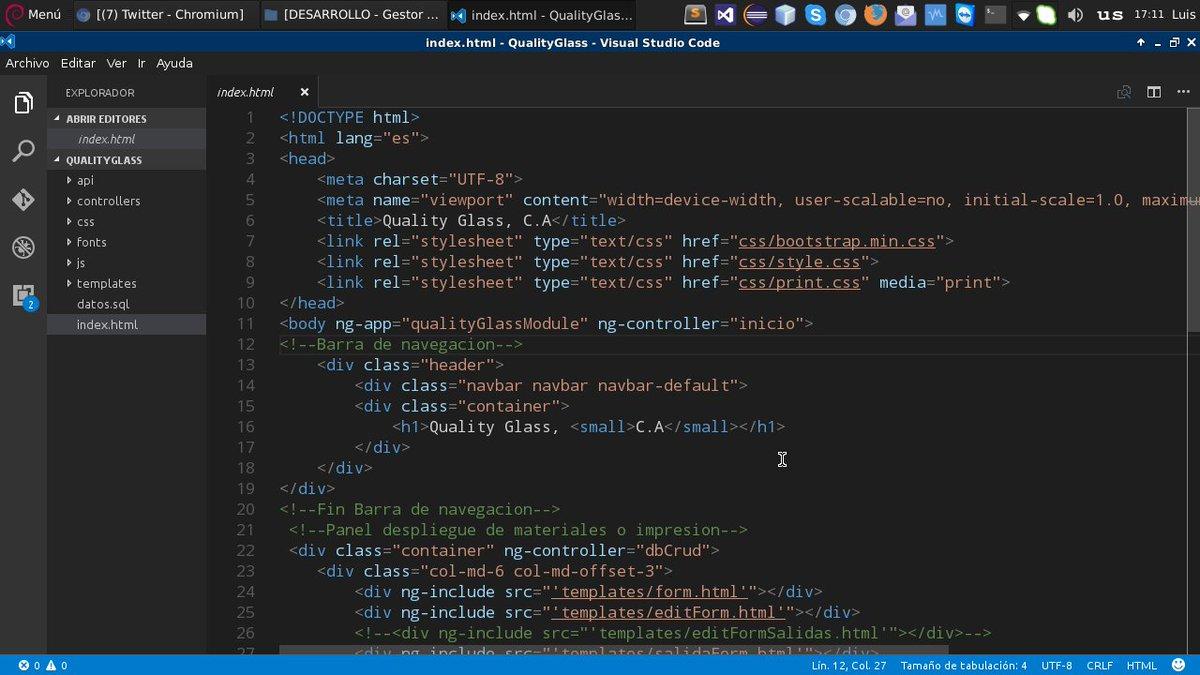 Luis Rondon On Twitter Probando Visual Studio Code 15
