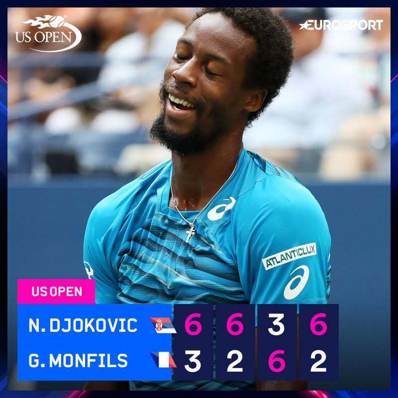 Monfils défait en quatre sets par Novak Djokovic en demi-finale de l'US Open https://t.co/mapVHBpC63 https://t.co/StU6mw09Il