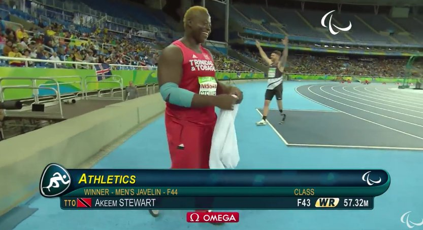 BREAKING: GOLD MEDAL and new world javelin record for Akeem Stewart at Rio Paralympics |CNC3 https://t.co/rTVpJk2FUm https://t.co/roJ95RExJp
