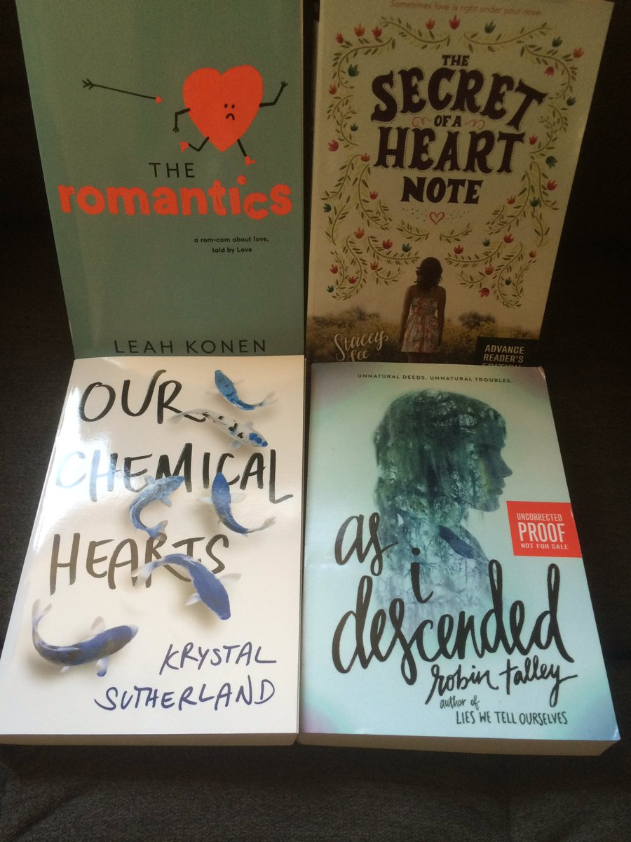 September #giveaway time! Follow & RT(no quoted tweets) to win these 4 Fall 2016 ARC's! US only ends 9/30! https://t.co/fJOB74zVtK