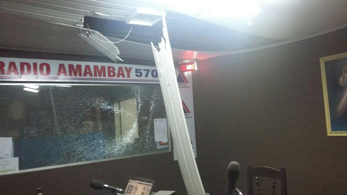 Lanzan una bomba contra Radio Amambay