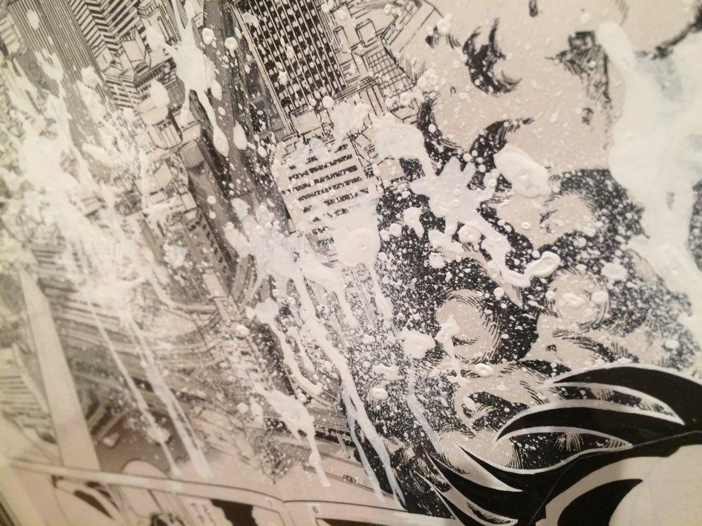 燃えよペンのホワイト吹き大失敗の生原画の展示はずるい 大失敗していた
