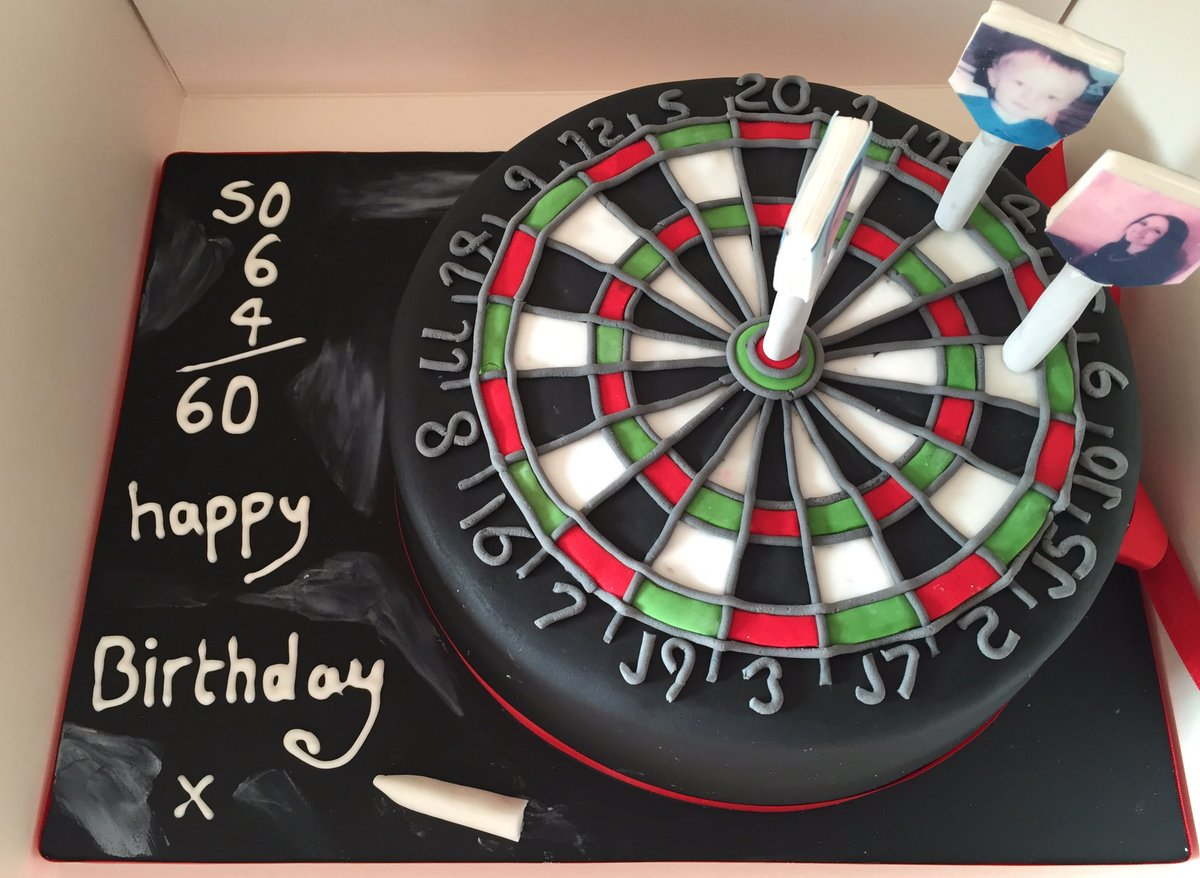 Pink Fluff Cakes On Twitter Dart Board Cake To Celebrate A 60th