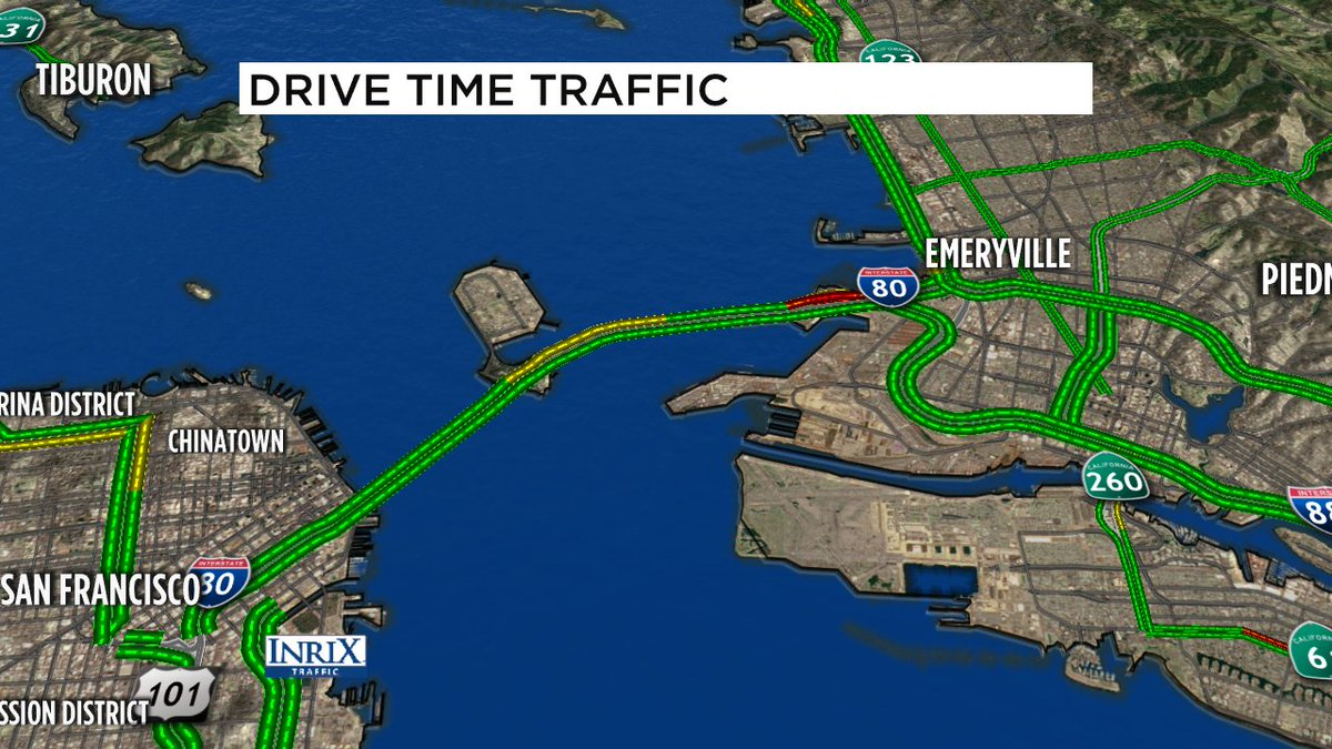 Delays building WB Bay Bridge- reports of collision at end of tunnel in left center lane, + minor prob before tp.
