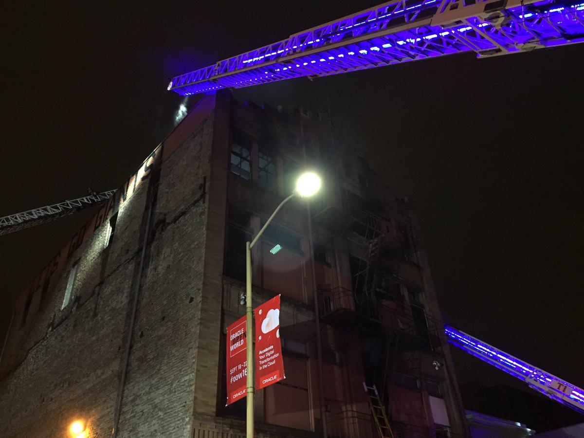 Just did live intv w/San Francisco fire. Was vacant bldg. Brick, glass falling from bldg. dangerous @kron4news