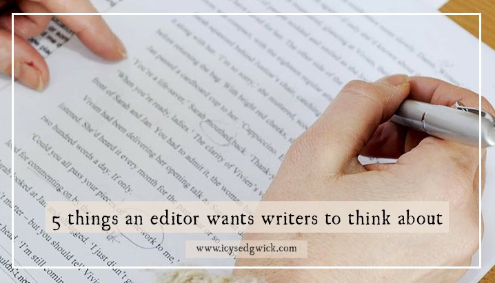 5 things an editor wants writers to think about! https://t.co/DJhEewmppH #MondayBlogs #amediting @nerinedorman https://t.co/vPAxvXmTQV