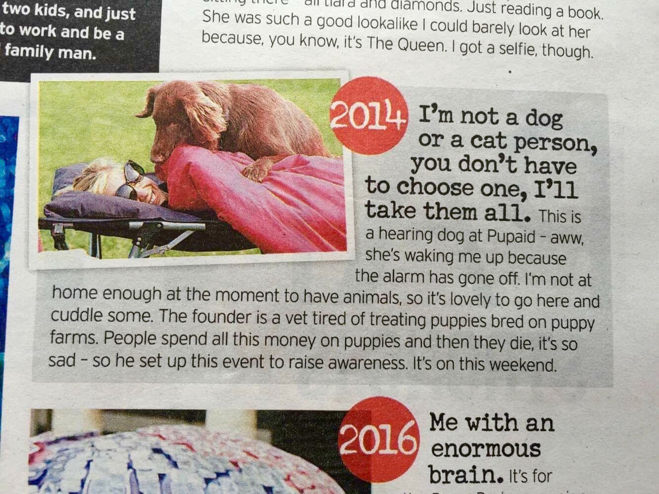 RT @pupaid: Massive thanks fab supporter @RachelRileyRR for mentioning #PupAid2016 in your interview :) #wheresmum #adopt https://t.co/QMhD…