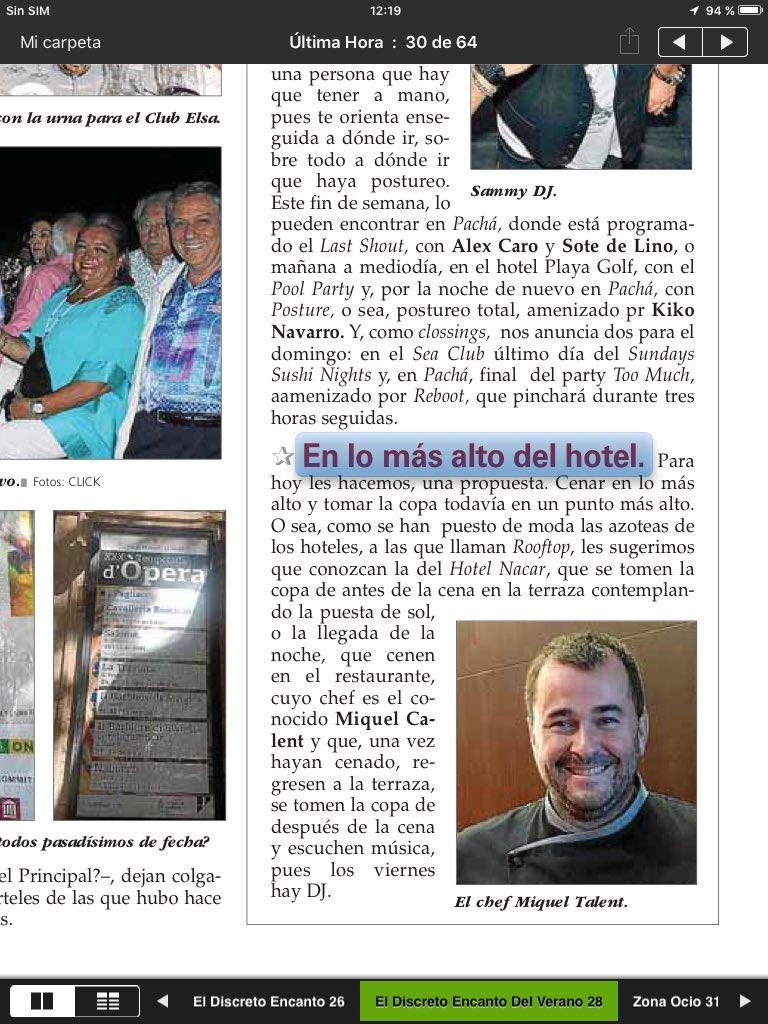 Y también @MiquelCalent , nueva columna de @ipatri y @jimmix_eventone https://t.co/mpVT1BBMLB