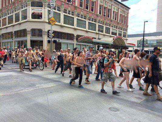 Why there were so many topless people on the 16th Street Mall 9newsmornings