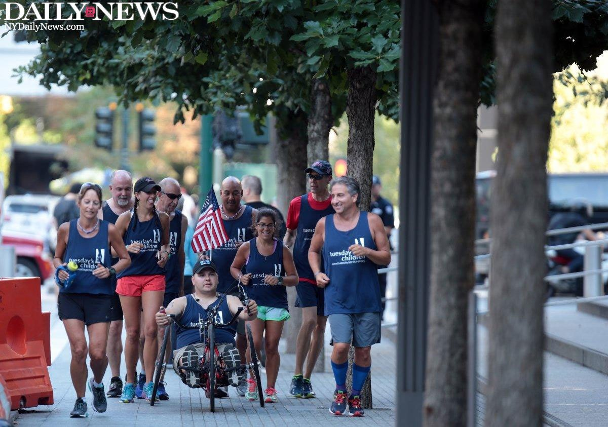 These NY athletes trekked 75 miles to raise money for children of 9/11 victims
