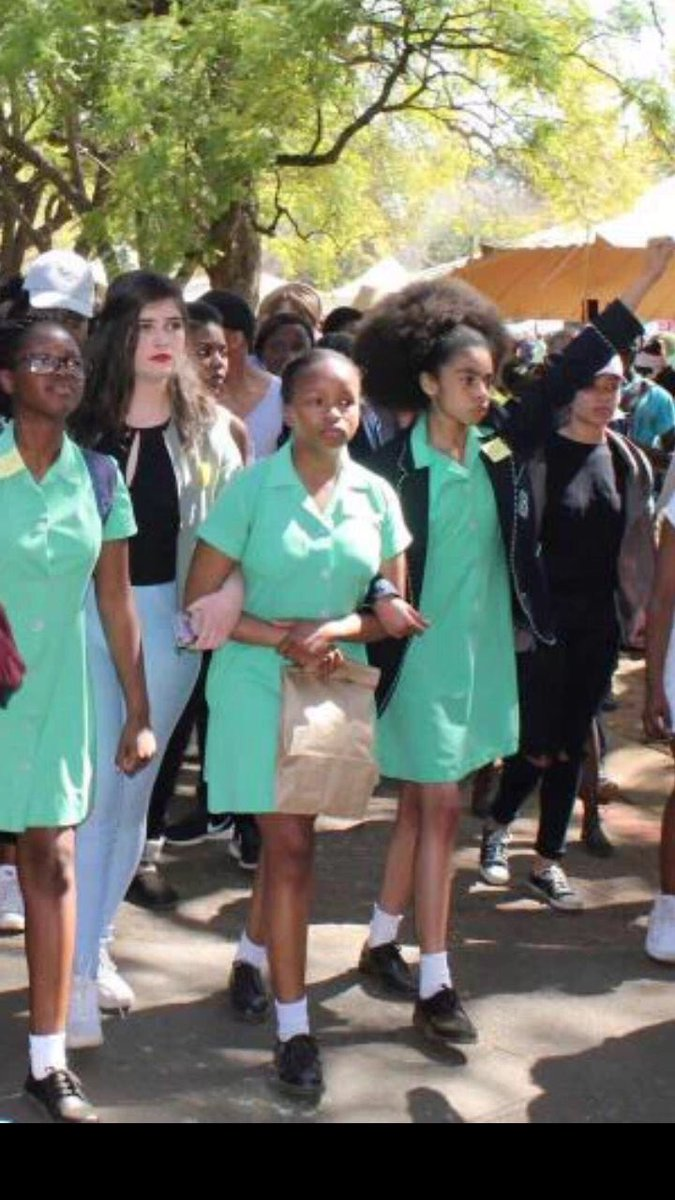 No African child needs permission to be who she is! Wear your crown with pride!!  Nxa #StopRacismAtPretoriaGirlsHigh https://t.co/15QipzSt7O