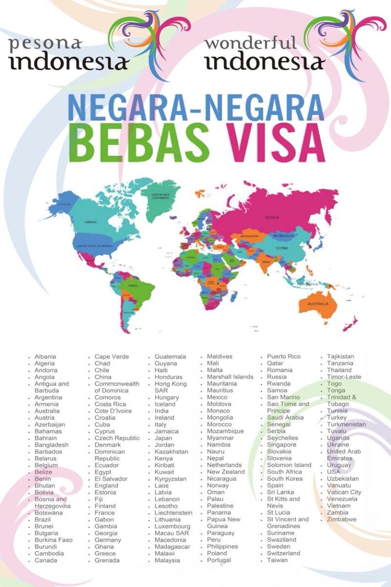 kemenpar ri no twitter daftar 169 negara bebas visa ke indonesia rh twitter com