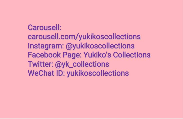 Yukiko's Collections (@yk_collections) | Twitter