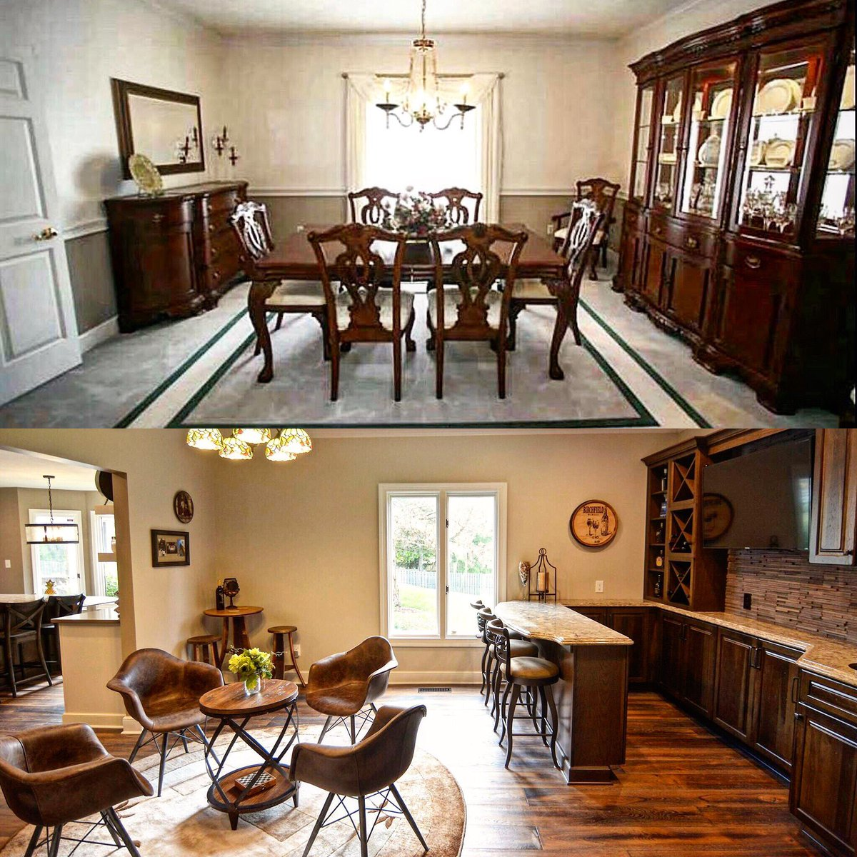 Chateau Kitchens On Twitter BEFORE AFTER Dining Room Converted