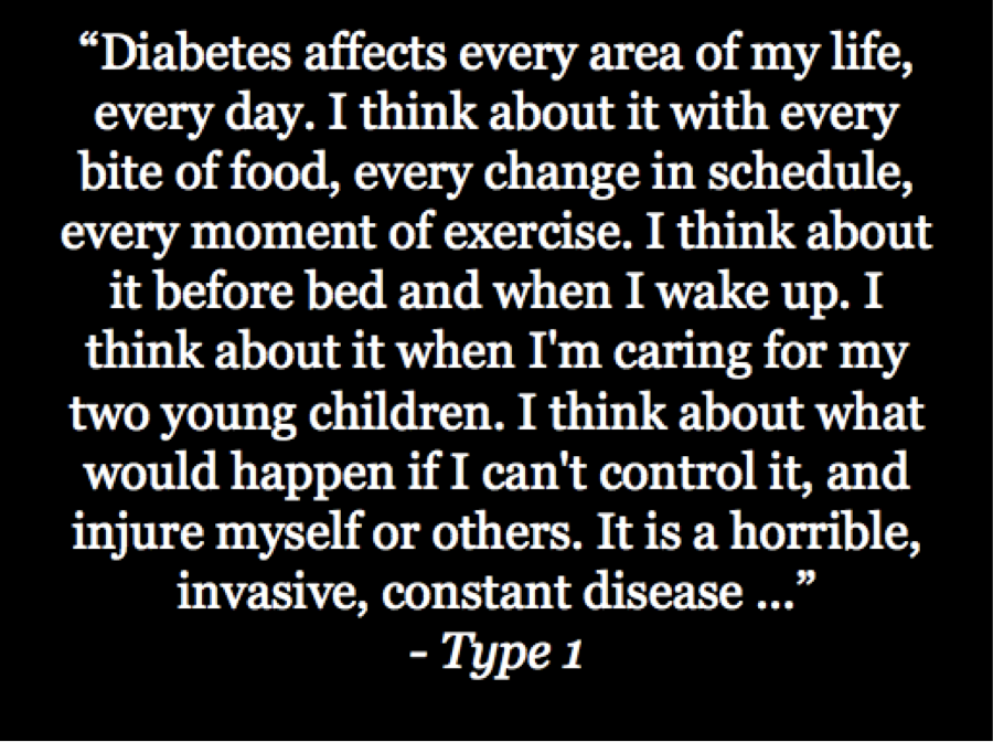 """diabetes affects every area of my life, every day"" @kellyclose #BeyondA1c #DOCasksFDA https://t.co/XQoLcOQu6q"