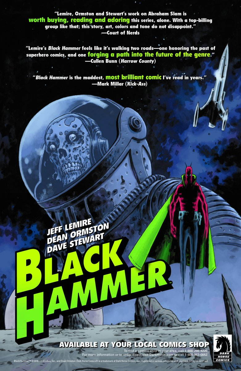 Get your last minute preorders for Black Hammer issue three in today! https://t.co/yS2ZsJdu1L