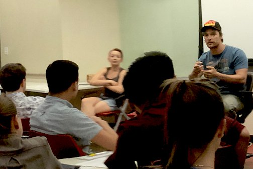 Last week, @McConaughey visited @UTRTF's Advanced Producing: Script-to-Screen class! #moodypride #whatstartshere https://t.co/hpmhEMKi8I