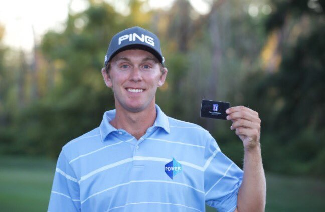Well done to @Power4Seamus claiming his @PGATOUR card for 2017 yesterday 💪🏻💪🏻⛳️⛳️