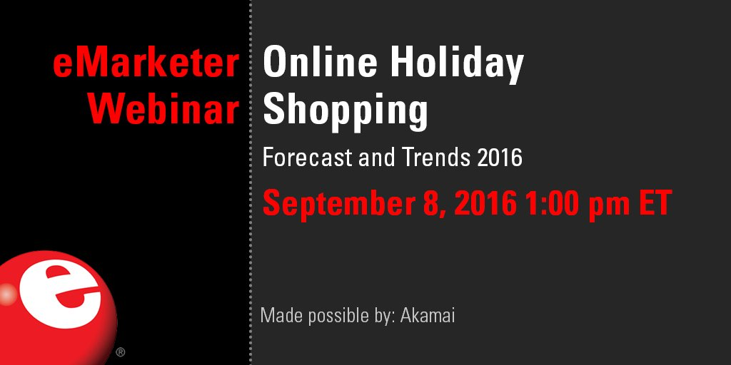 How long will the #holiday #eCommerce shopping season be? Find out in our next #eMwebinar: https://t.co/myst7nNqYx https://t.co/empsqQttNS