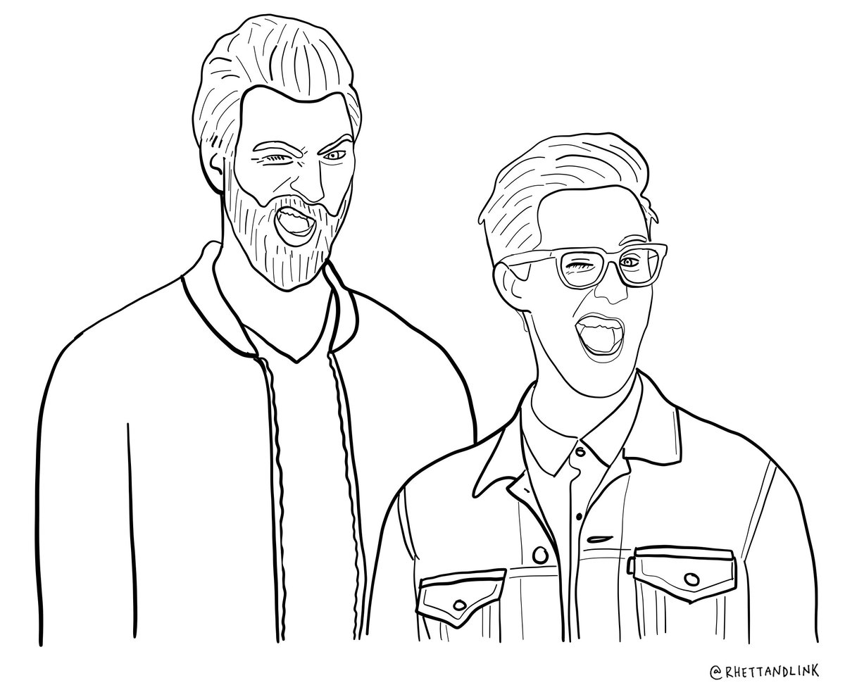 rhett link on twitter today in gmmore we colored now you can color too a picture of us color away - Link Coloring Pages