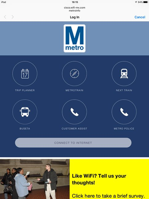 Metro has launched free wi-fi at six stations (for a 45-day pilot program).