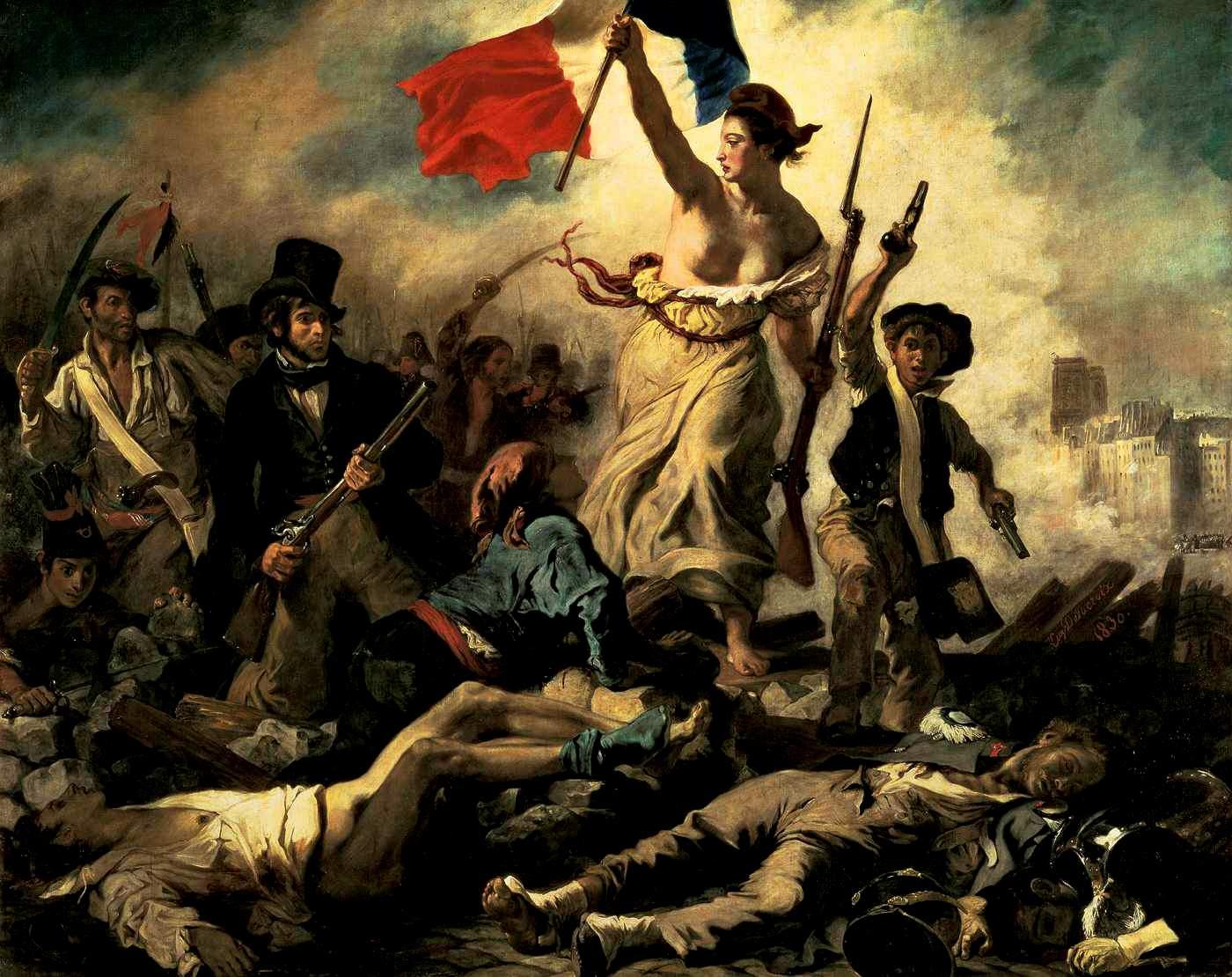 6)En 1830, Delacroix peint sa Liberté qui n'est pas une République, mais 1 liberté (Eugène n'étant pas républicain) https://t.co/pWNk2iUxBB